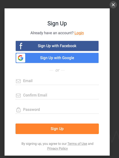 FlexClip サインイン画面