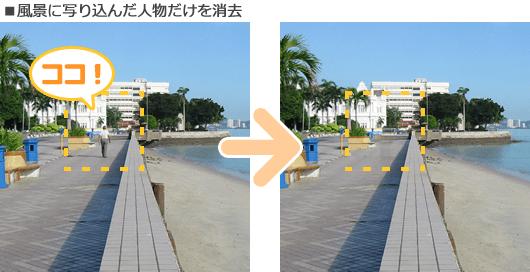 秒速!画像キリヌキPro 2でも引き続き要らないものを消す機能が人気です