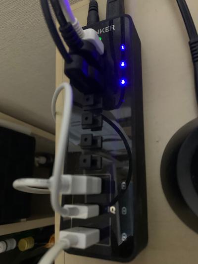 ANKER USBハブに取り付けてみた