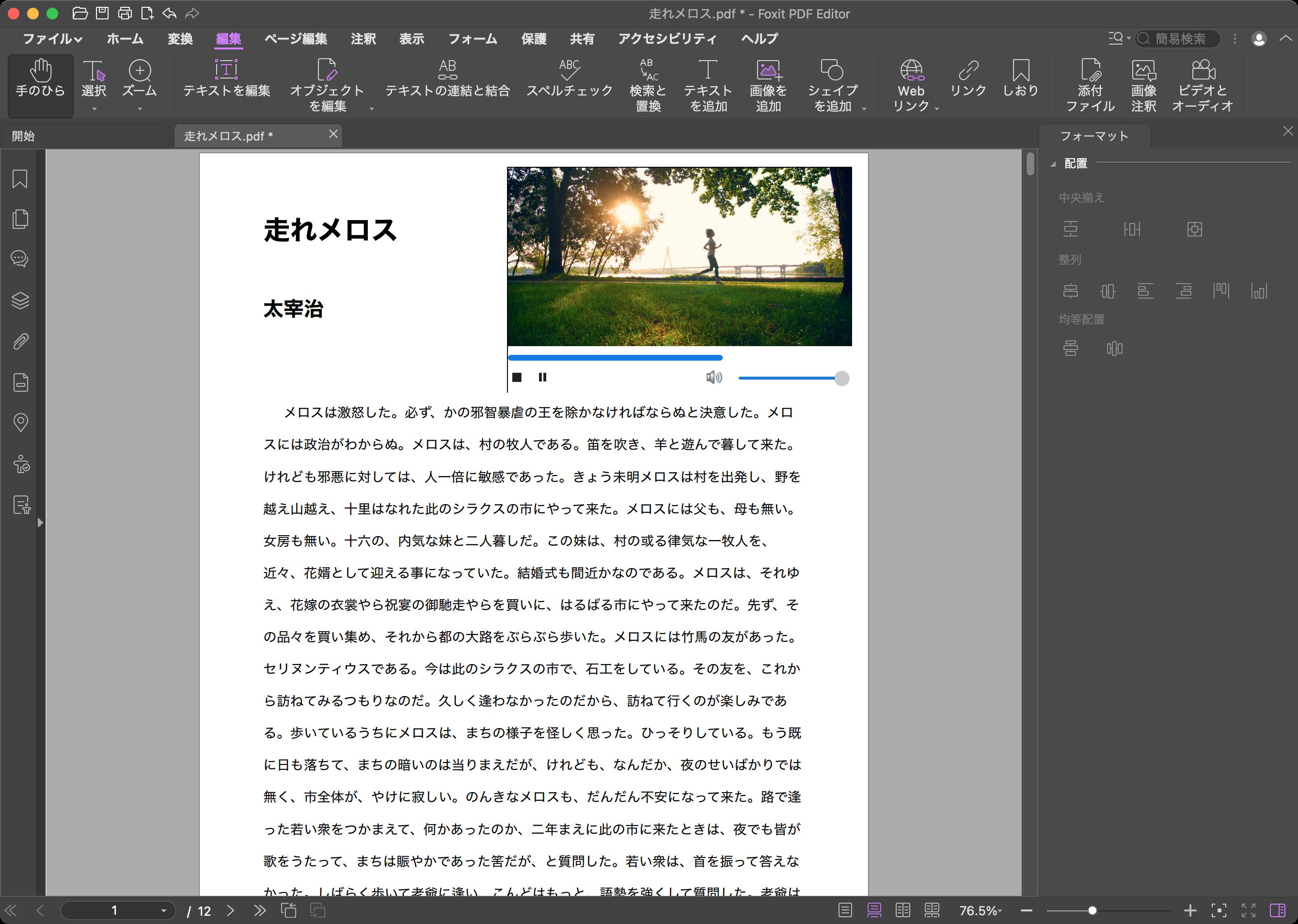 Foxit PDF Editor 動画再生